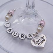 Special Friend Personalised Wine Glass Charm - Elegance Style
